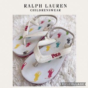 Ralph Lauren girls flip flops
